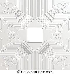 abstratos, vetorial, tecnologia, fundo branco