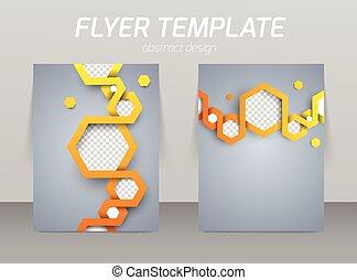 abstratos, voador, desenho, modelo