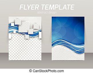 abstratos, voador, modelo, desenho