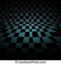 abstratos, xadrez, sala