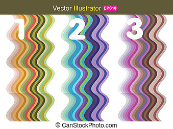 abstrct with number 123 - vector business concepts / element...