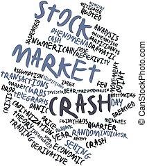 absturz, markt, bestand