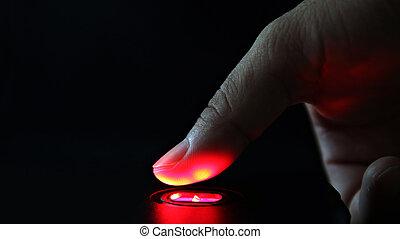 abtastung, technologie, fingerabdruck
