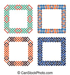 abtract squares frame set