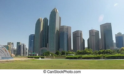 Abu Dhabi City - capital and second most populous city in...