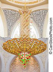 Abu Dhabi Sheikh Zayed Grand Mosque, beautiful interior