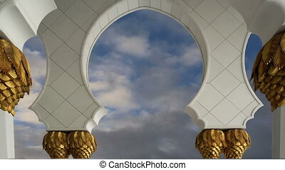Abu Dhabi Sheikh Zayed White Mosque in UAE