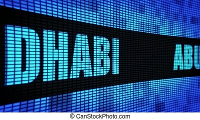 Abu Dhabi Side Text Scrolling LED Wall Pannel Display Sign...