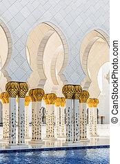 abu dhabi, uae, -, junio, 11:, el, jeque, zayed, mezquita...