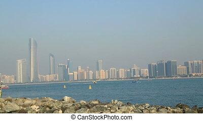 Abu Dhabi view with sailboat