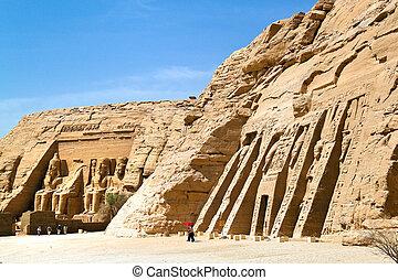 abu, egipto, simbel, felstempel