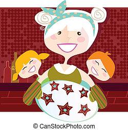abuela, dulce, galletas