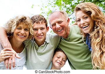 abuelos, bueno, teniendo, nietos, tiempo