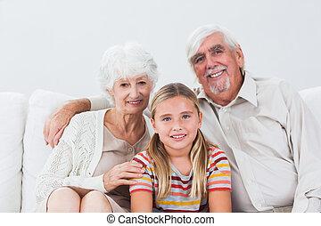 abuelos, nieta