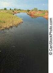 Abuket River, Uganda, Africa - Abuket River in Uganda - The...