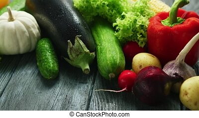 Abundance of fresh ripe vegetables - Composition of...