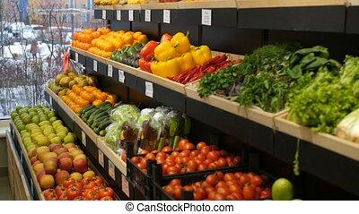 Abundance of organic products on self at store - Abundance...