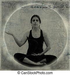 Abundance - Woman in abundance meditation photo based...