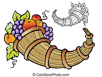 abundancia, fruta, cosecha