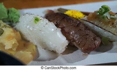 Aburi Nigiri, seared sushi Japanese
