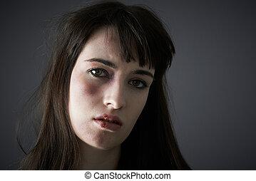 abus, conjugal, femme, victime
