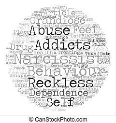 abus, texte, behaviours, narcissisme, fond, mot, nuage, ...