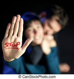 abusare, fermata, donne