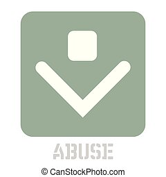 Abuse conceptual graphic icon. Design language element,...