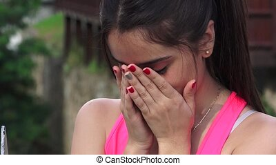 Abused Female Crying