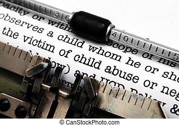abuso, forma, bambino