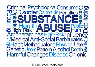 abuso sostanza, parola, nuvola