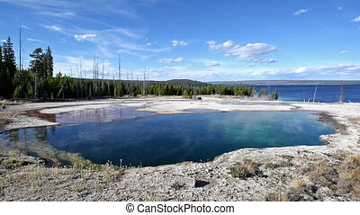 Abyss Pool and Blue Sky - Abyss Pool with a beautiful blue...