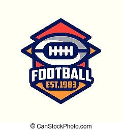 abzeichen, est, 1983, fußball, fußball, emblem, abbildung, amerikanische , vektor, hintergrund, mannschaft, logo, weißes, sport, schablone