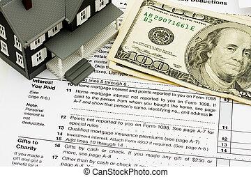 abziehen, interesse, steuern, hausfinanzierung