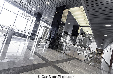 acél, modern, hivatal belső