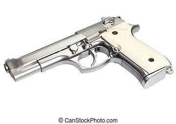 acél, pisztoly, beretta, m92, rozsdamentes