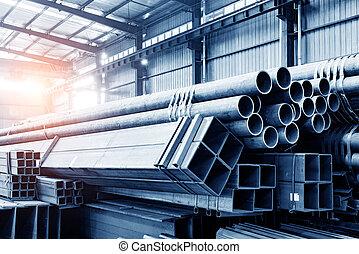 acél, raktárépület