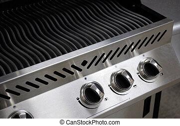acél, rozsdamentes, grillsütő