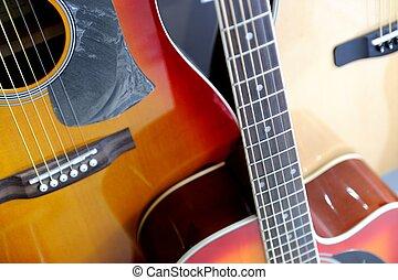 acústico, exposição armazém, violões