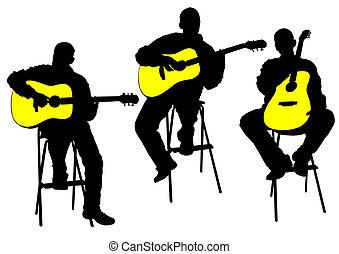 acústico, guitarrista