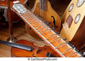 acústico, instrumentos