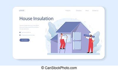acústico, insulation., térmico, page., ou, teia, isolação, aterragem, bandeira
