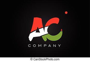 AC A C alphabet letter logo combination icon alphabet design
