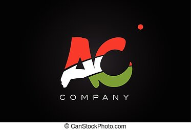 AC A C alphabet letter logo combination icon alphabet design