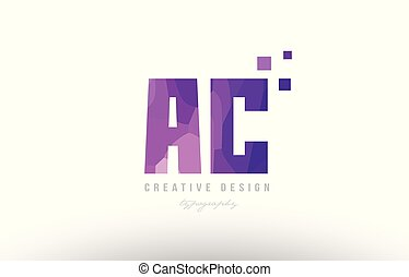 ac a c pink alphabet letter logo combination with squares