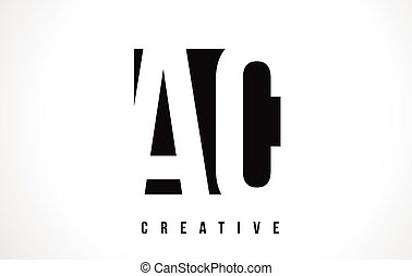 AC A C White Letter Logo Design with Black Square.