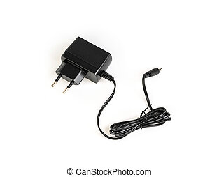 AC adapter on a white background  .