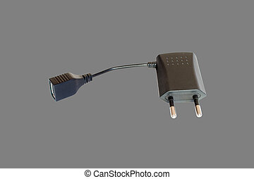 AC adapter with USB