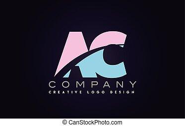 ac alphabet letter join joined letter logo design