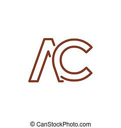 Ac letter logo design